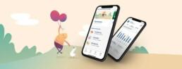 zanadio App Screens und ein glücklicher Hugo
