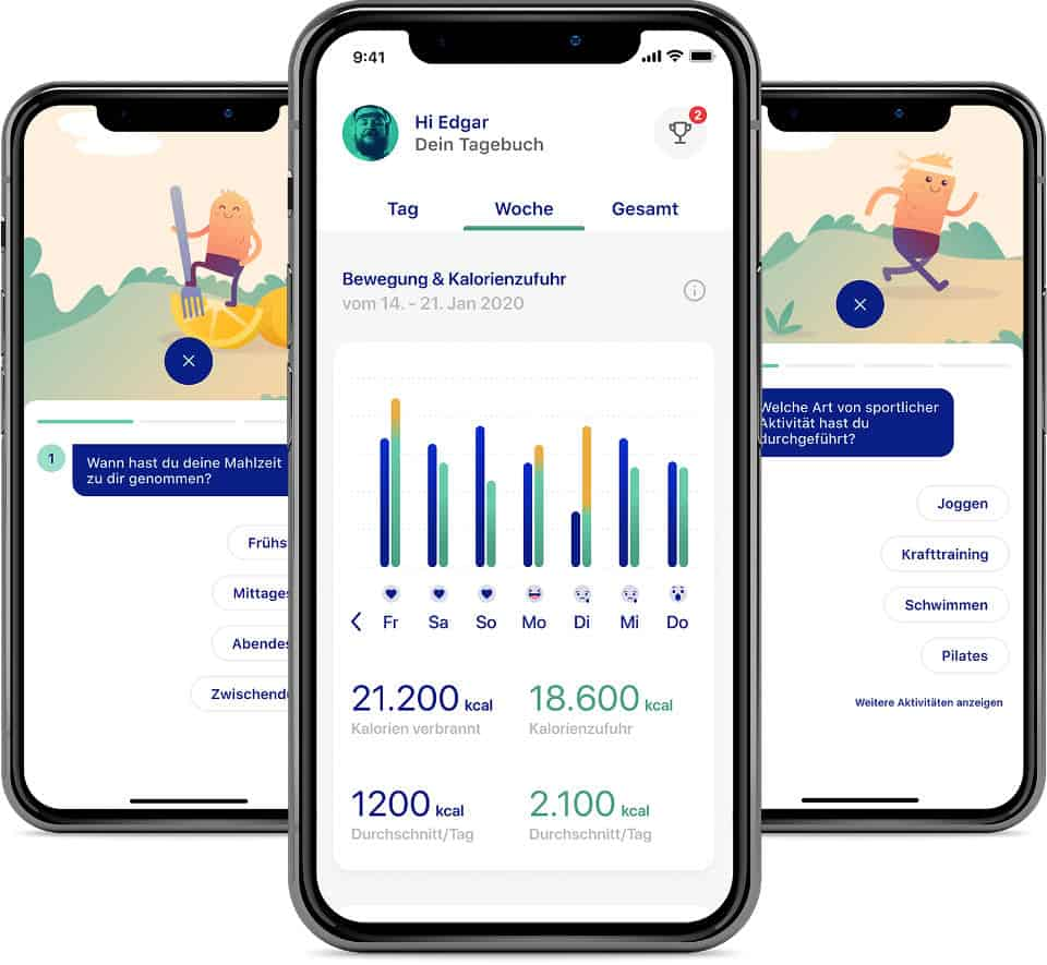 zanadio App Screens
